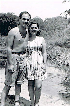 Meyer and Pearl on vacation